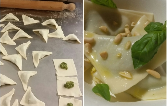 Ravioli al pesto by Cuochi itineranti