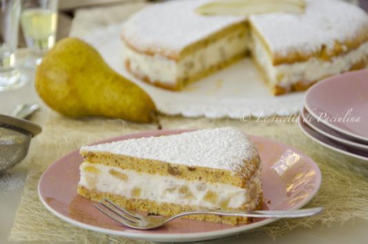 Torta ricotta e pere ricetta di pronto in tavola - Ricette monica bianchessi pronto in tavola ...