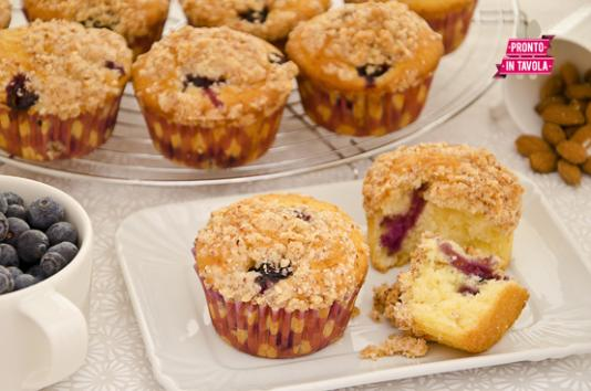 Muffin ai mirtilli ricetta di pronto in tavola - Tgcom pronto in tavola ...