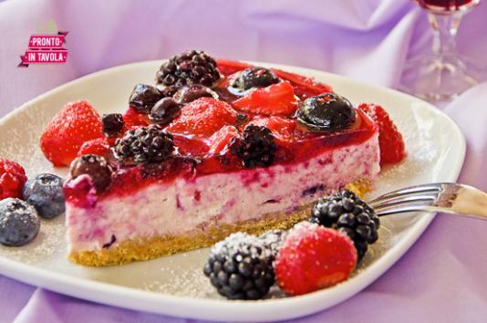 Cheesecake ai frutti di bosco ricetta di pronto in tavola - Ricette monica bianchessi pronto in tavola ...