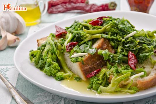 Pancotto piccante alle cime di rapa ricetta di pronto in tavola - Ricette monica bianchessi pronto in tavola ...