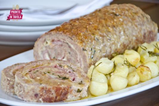 Polpettone al forno con patate ricetta di pronto in tavola - Ricette monica bianchessi pronto in tavola ...