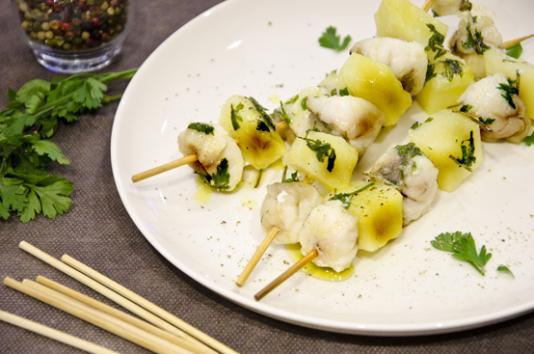 Spiedini di rana pescatrice e patate ricetta di pronto for Cucinare rana pescatrice