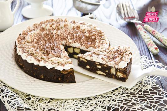 Torta di biscotti senza cottura ricetta di pronto in tavola - Ricette monica bianchessi pronto in tavola ...