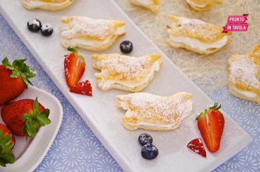 Colombine di sfoglia ricetta di pronto in tavola - Ricette monica bianchessi pronto in tavola ...