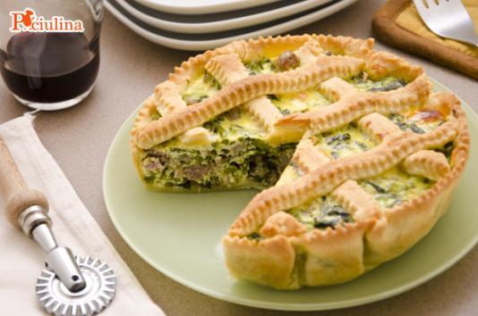 Torta salata con broccoli e salsiccia ricetta di pronto in tavola - Ricette monica bianchessi pronto in tavola ...