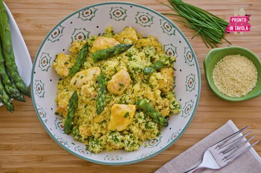 Cous cous pollo e asparagi ricetta di pronto in tavola - Ricette monica bianchessi pronto in tavola ...