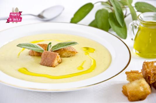 Crema di patate e topinambur ricetta di pronto in tavola - Ricette monica bianchessi pronto in tavola ...