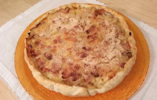 Torta salata con pancetta e patate cotto e mangiato - Ricette monica bianchessi pronto in tavola ...