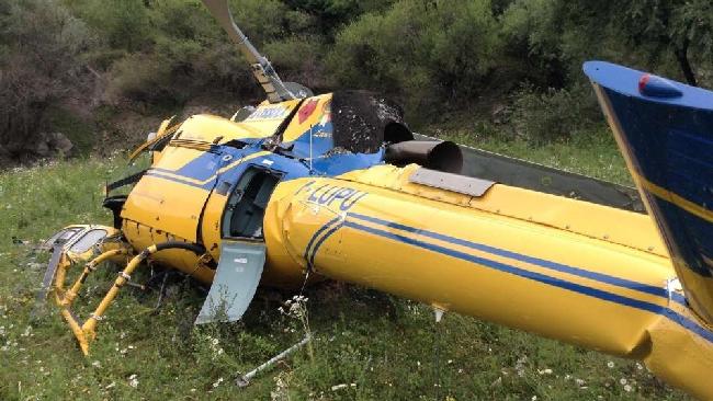 Elicottero Mediaset : Cade elicottero antincendio nel reatino morti il pilota e