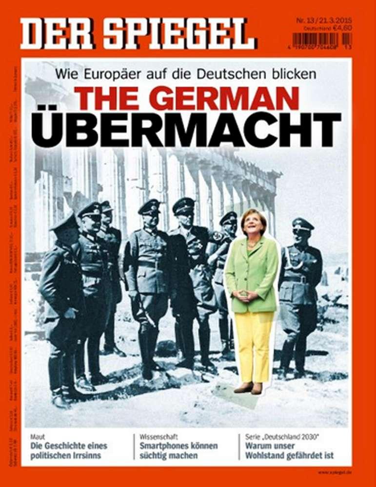 """Copertina shock dello Spiegel: """"Merkel tra i nazisti, l'Ue ci vede così"""""""