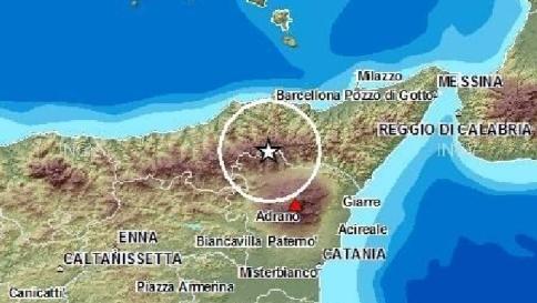 Terremoto, scossa tra le province di Messina e Catania$