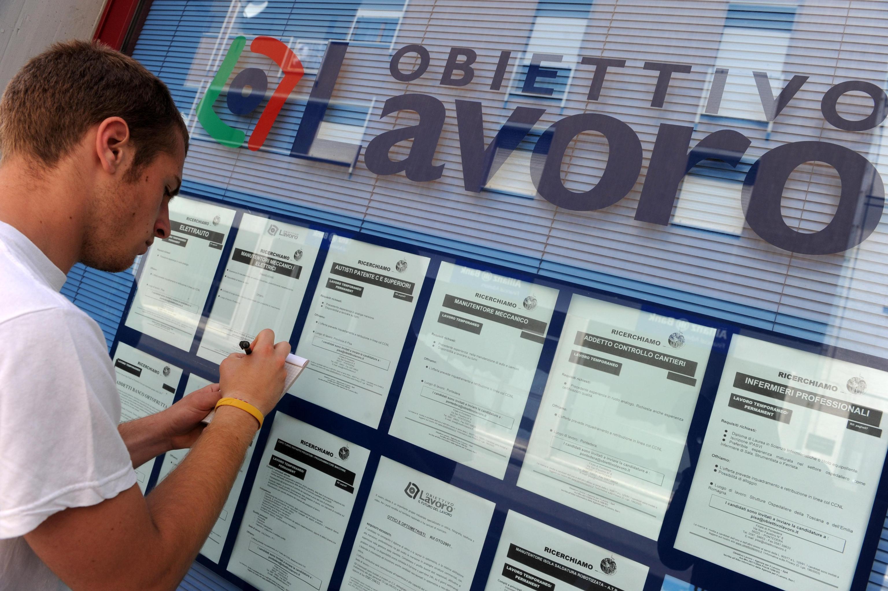 Lavoro: il tasso di occupazione italiano sotto la media Ue