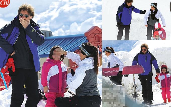 Torrisi-Pieraccioni insieme sulla neve