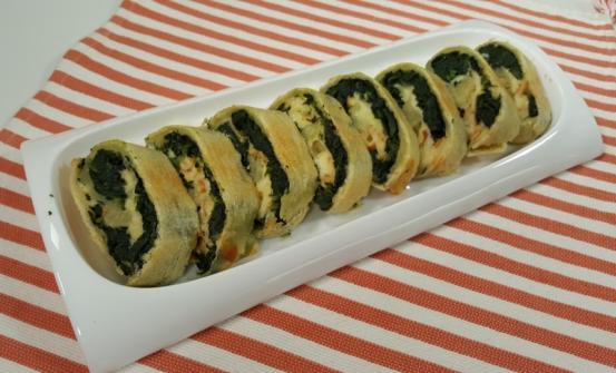 Girelle di pasta matta farcite con spinaci e scamorza affumicata