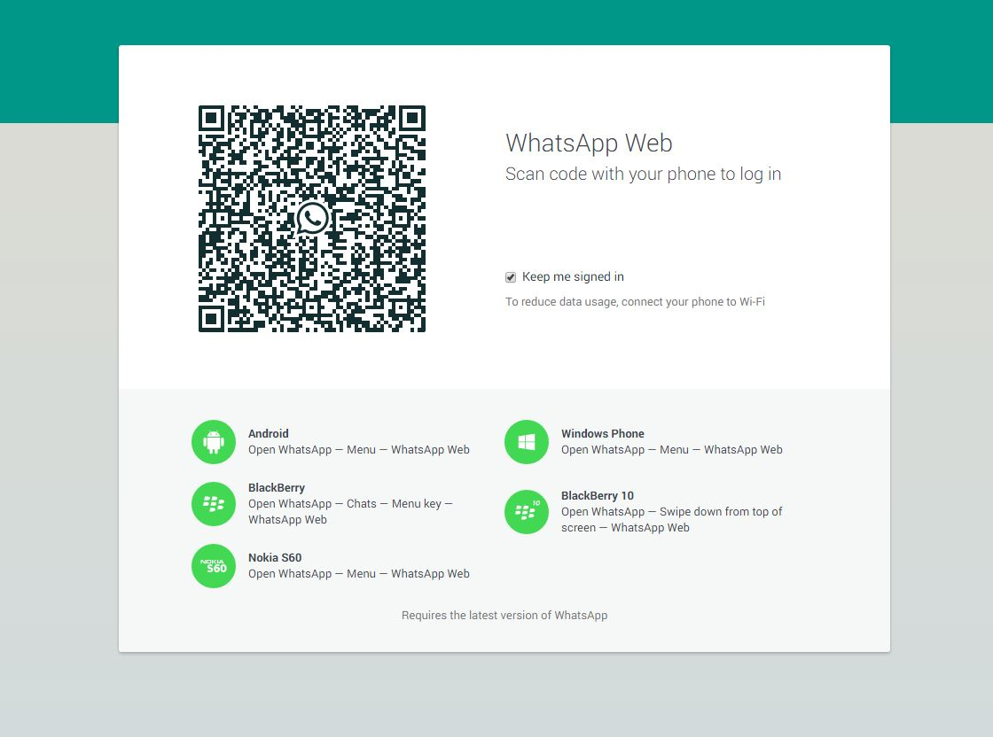 Whatsapp attiva la versione desktop