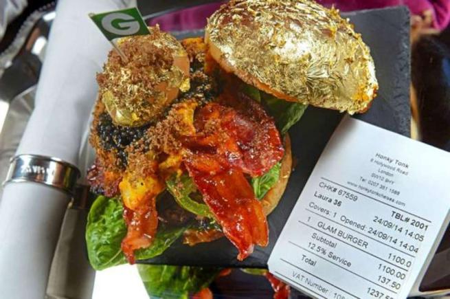 L\'hamburger più costoso del mondo con caviale e foglia d\'oro ...