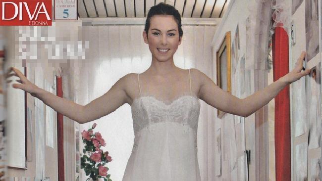 Micol olivieri abito da sposa e pancione tgcom24 - Diva sposa salerno ...