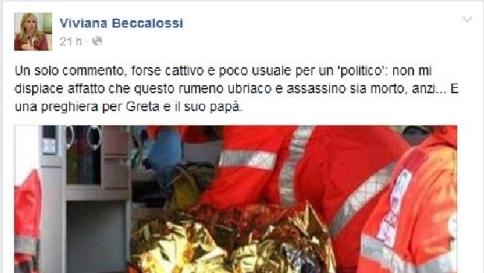 """Romeno morto, caos sulle parole della Beccalossi: """"Non mi spiace, anzi..."""""""