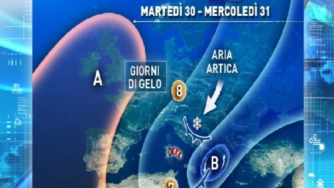 Italia nella morsa del gelo: una fine d'anno tra freddo artico e vento forte