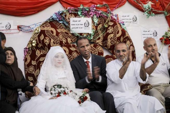 Matrimonio In Extremis : Gaza durante la tregua una coppia palestinese si è unita in