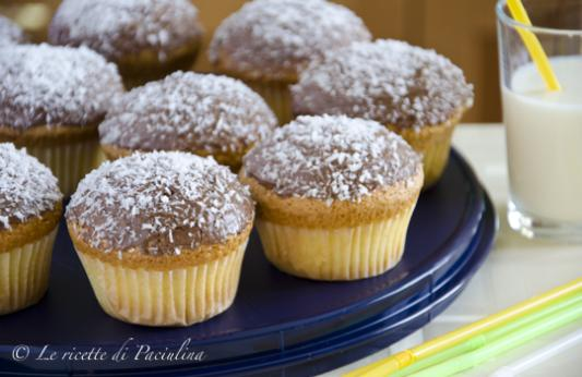 Muffin al cocco e Nutella senza burro