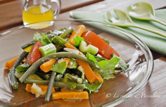 Insalata estiva di fagiolini e carote