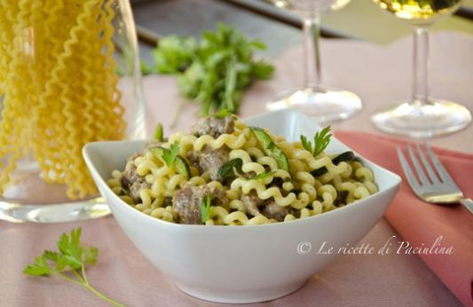 Pasta salsiccia e zucchine