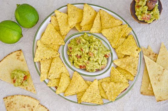 Guacamole e tortillas