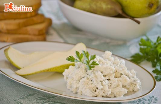 Crema di formaggio con le pere