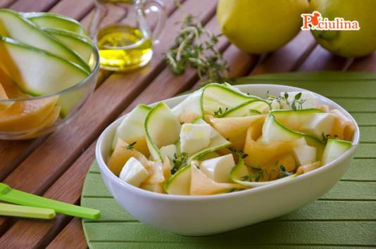 Insalata di zucchine e melone