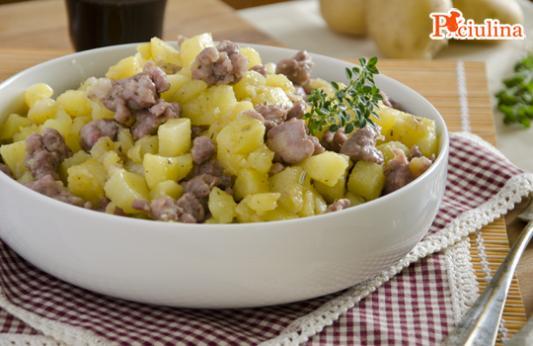 Bocconcini di salsiccia e patate