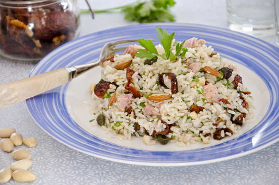 Insalata di riso alle erbe e tonno