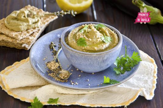 Hummus di melanzane
