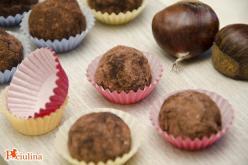 Tartufini al cacao e castagne