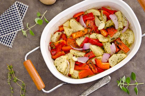 Teglia di peperoni e patate