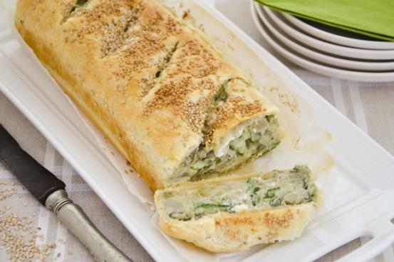 Strudel di verdure e formaggio