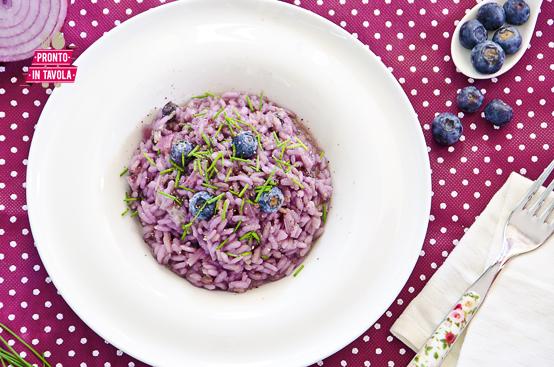 Risotto ai mirtilli ricetta di pronto in tavola - Ricette monica bianchessi pronto in tavola ...