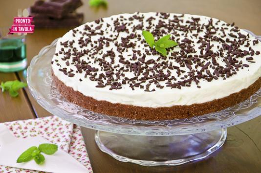 Cheesecake menta e cioccolato