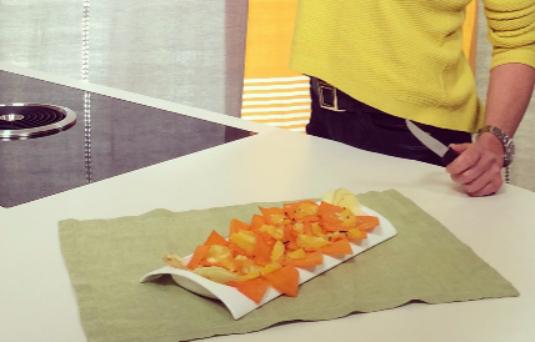 Zucca al forno con arance e zenzero