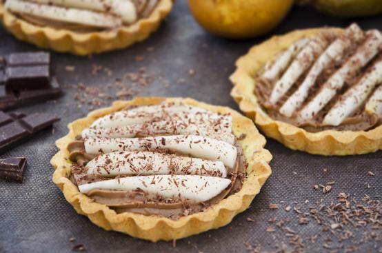 Crostatine pere e cioccolato