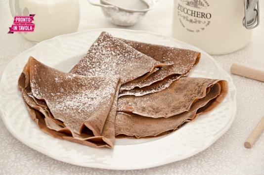 Crèpes al cacao