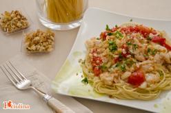 Spaghetti croccanti al baccalà