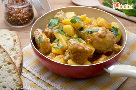 Pollo in umido con le patate