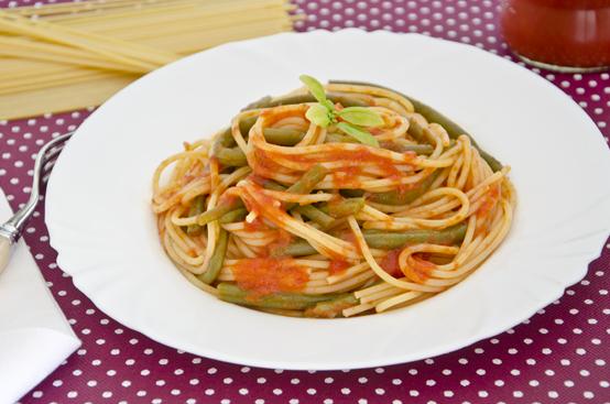 Spaghetti ai fagiolini verdi
