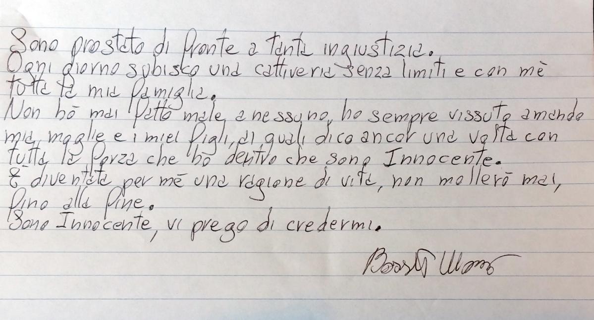 """Yara, Bossetti scrive a Tgcom24: """"Sono innocente, dovete credermi"""""""