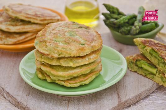 Pancakes agli asparagi