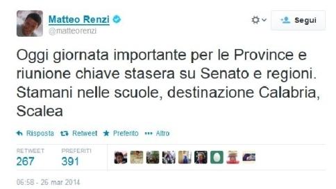 """Province, il governo mette la fiducia Renzi: """"Salvare rapporto con cittadini"""""""