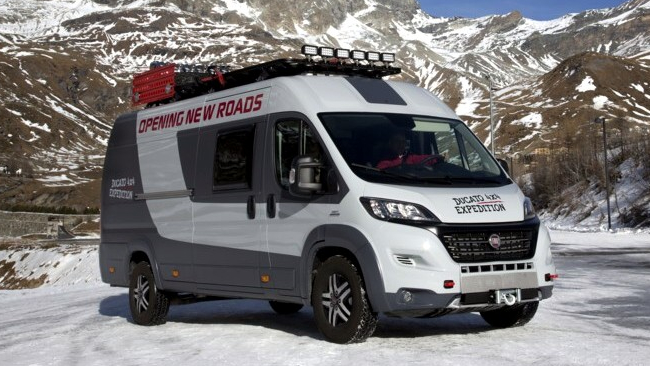 fiat ducato camper 4x4 expedition tgcom24. Black Bedroom Furniture Sets. Home Design Ideas