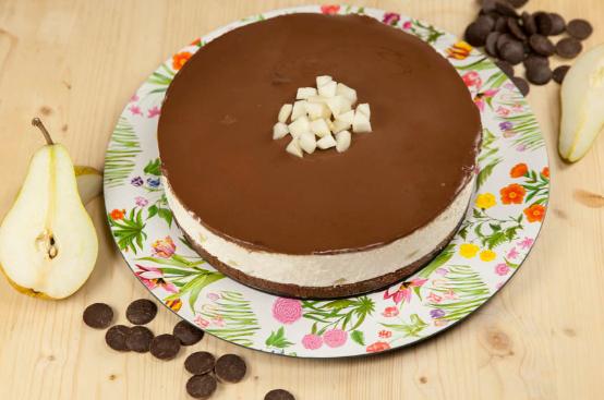 I Dolci di Alice: cheesecake alle pere e cioccolato
